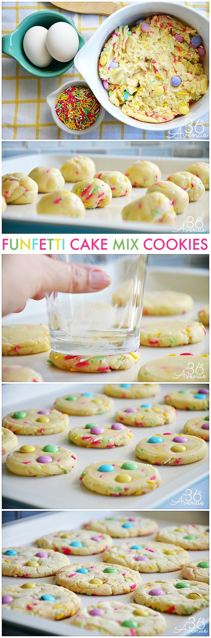 Funfetti Cake Box Cookie Recipes