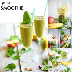 Healthy Recipes - Green Smoothie Recipe by placeofmytaste.com