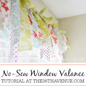 DIY No-Sew Window Valance Tutorial at the36thavenue.com ...Pin it NOW and make it later!
