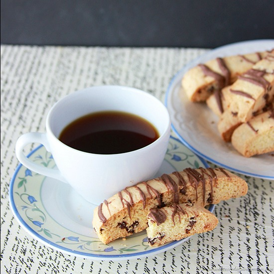 Chocolate Chip Biscotti by www.cookingwithruthie.com is a delicious spin off the classic Italian Cookie!