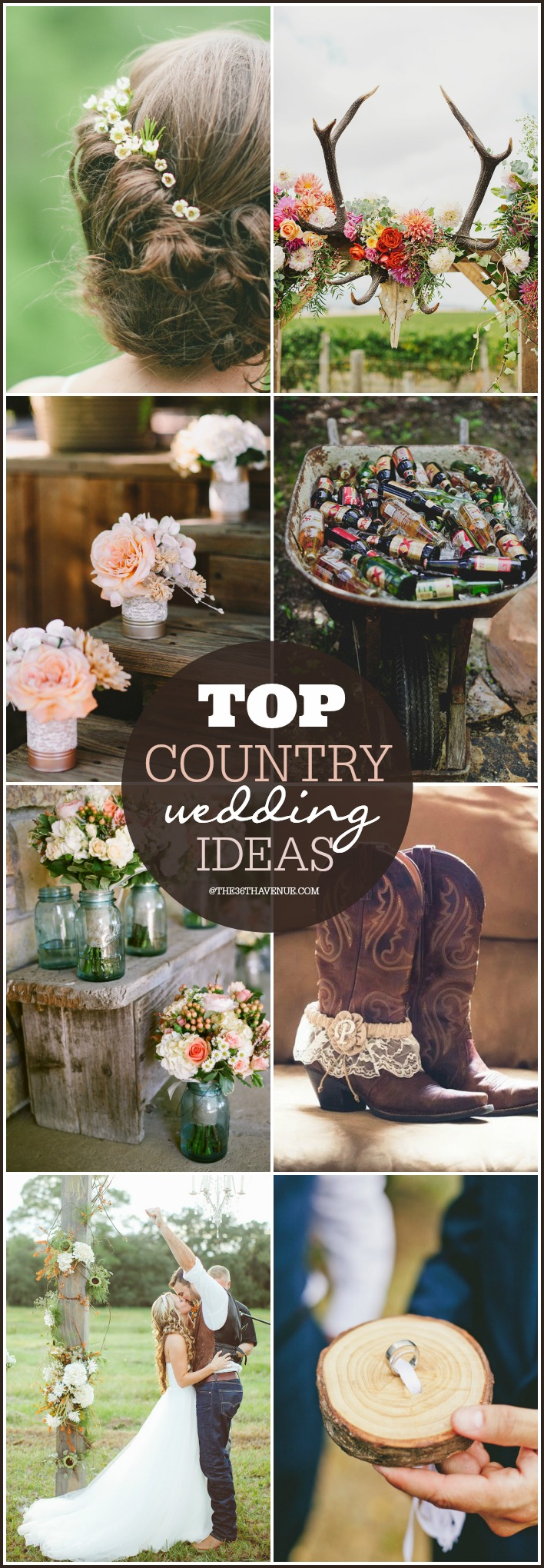 Best Country Wedding Ideas at the36thavenue.com