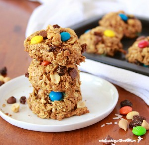 Coconut Trail Mix Cookies by whatscookingbyruthie.com