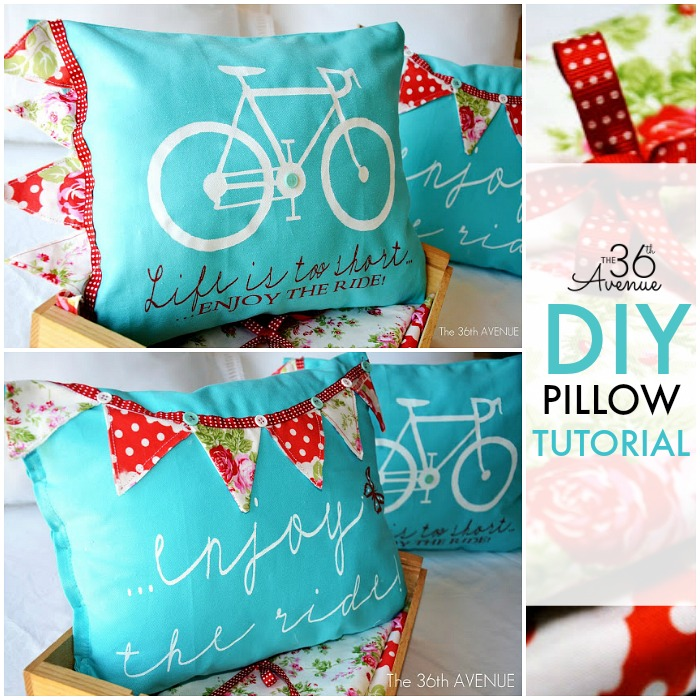 DIY - Stenciled Pillow Tutorial at the36thavenue.com