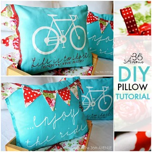 DIY PILLOW TUTORIAL FB the36thavenue.com