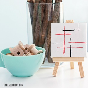 DIY Crafts – Mini Canvas Art