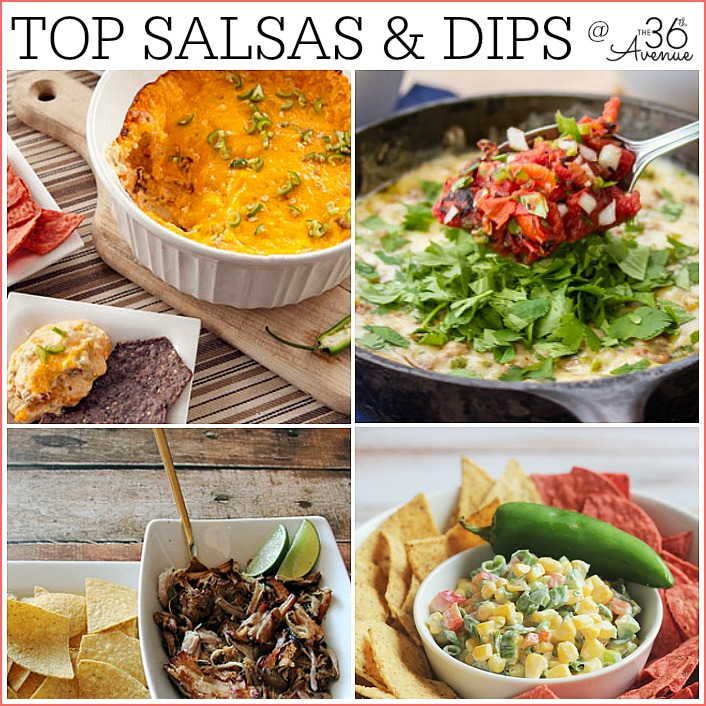 Recipes - Salsa and Dip Recipes at the36thavenue.com... Pin it now and make them later!