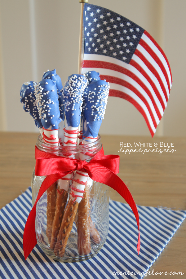 Fourth Of July Dessert Dipped Pretzels The 36th Avenue