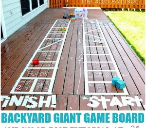 Kid Activities – Backyard Giant Game Board