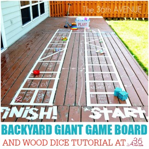 Kids Activities - How to make a Backyard Giant Game Board at the36thavenue.com