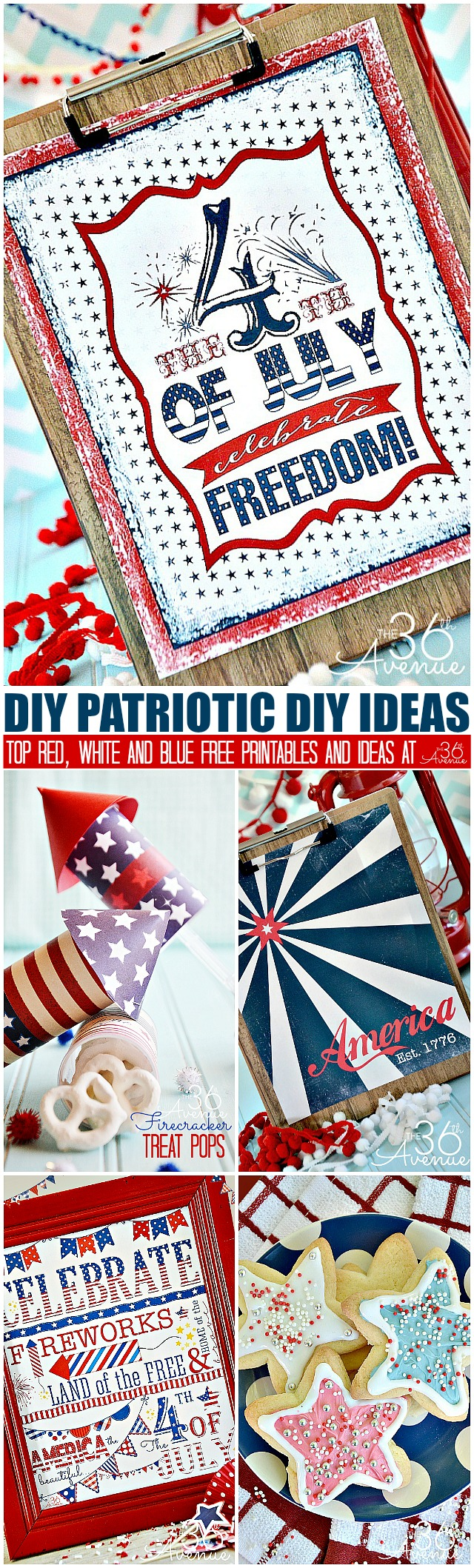 Fourth of July DIY Ideas at the36thavenue.com