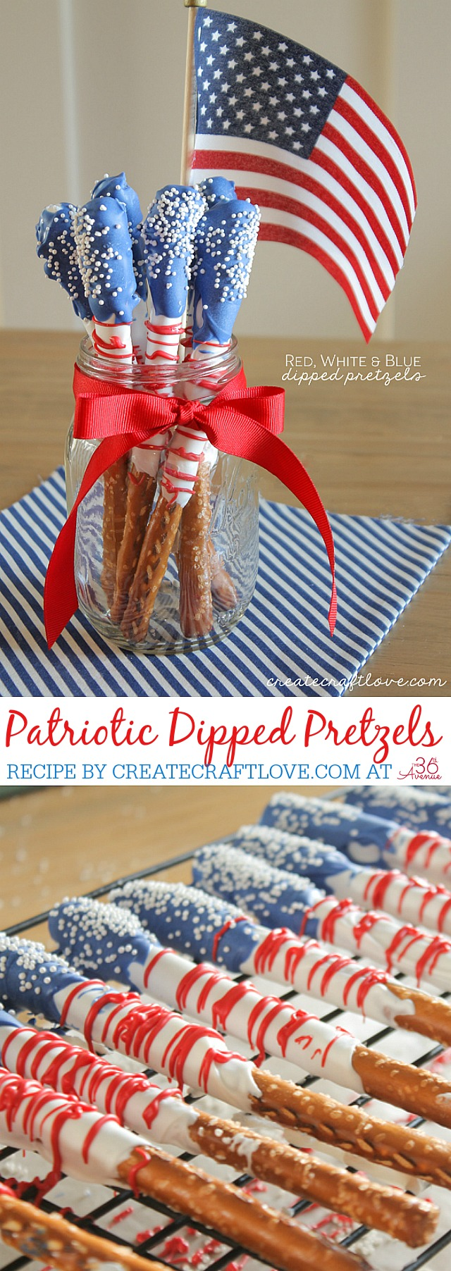 The 36th Avenue Fourth Of July Dessert Dipped Pretzels