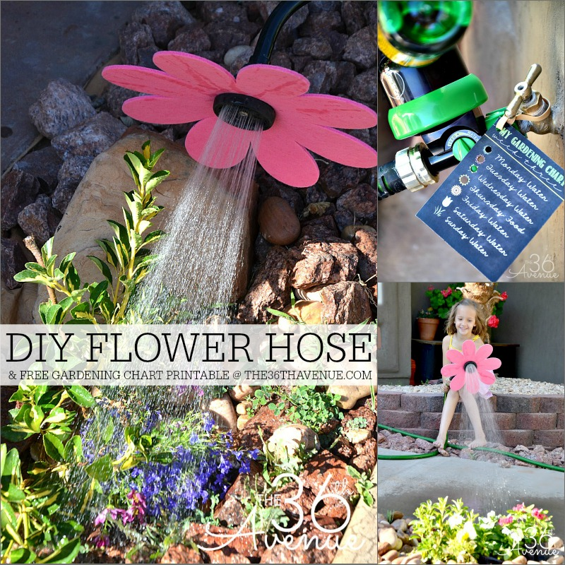 Gardening Tips - DIY Flower Hose and Gardening Chart at the36thavenue.com