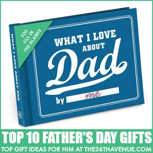 Gifts for Men - Top 10 Father's Day Gifts at the36thavenue.com Pin it now and give them later!