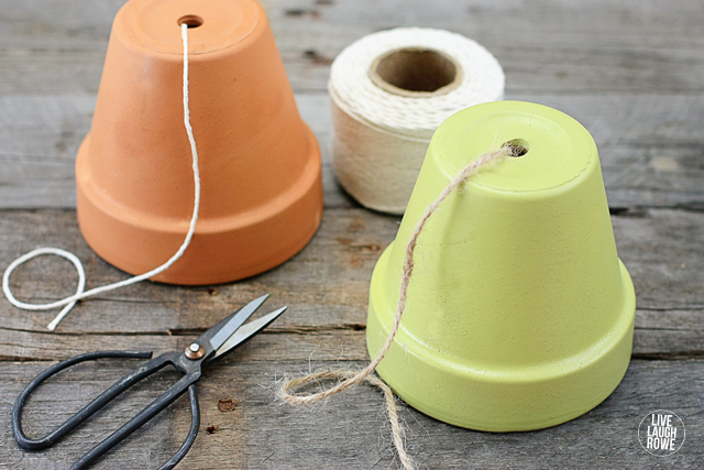 Terra Cotta Pot Twine Dispenseer