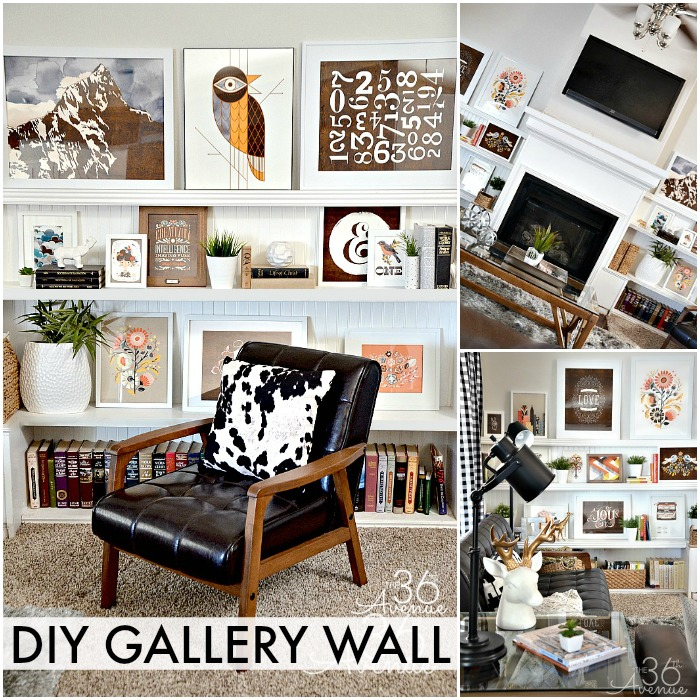 Home Decor - DIY Gallery Wall at the36thavenue.com