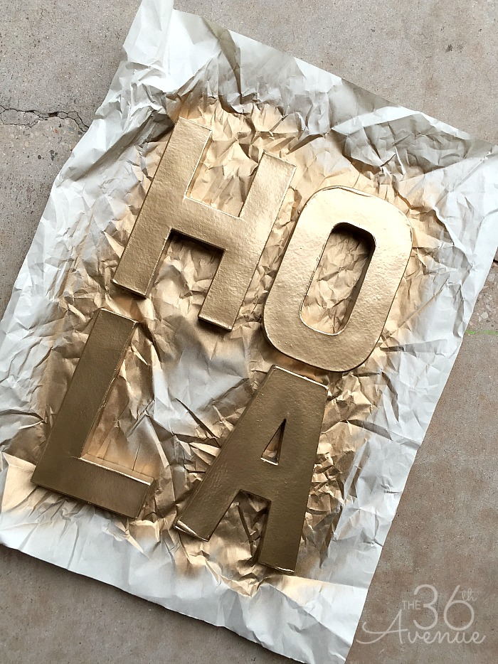 DIY Letters at the36thavenue.com