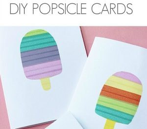 DIY Crafts – Handmade Popsicle Cards