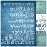 Father's Day Gift – Free Printable