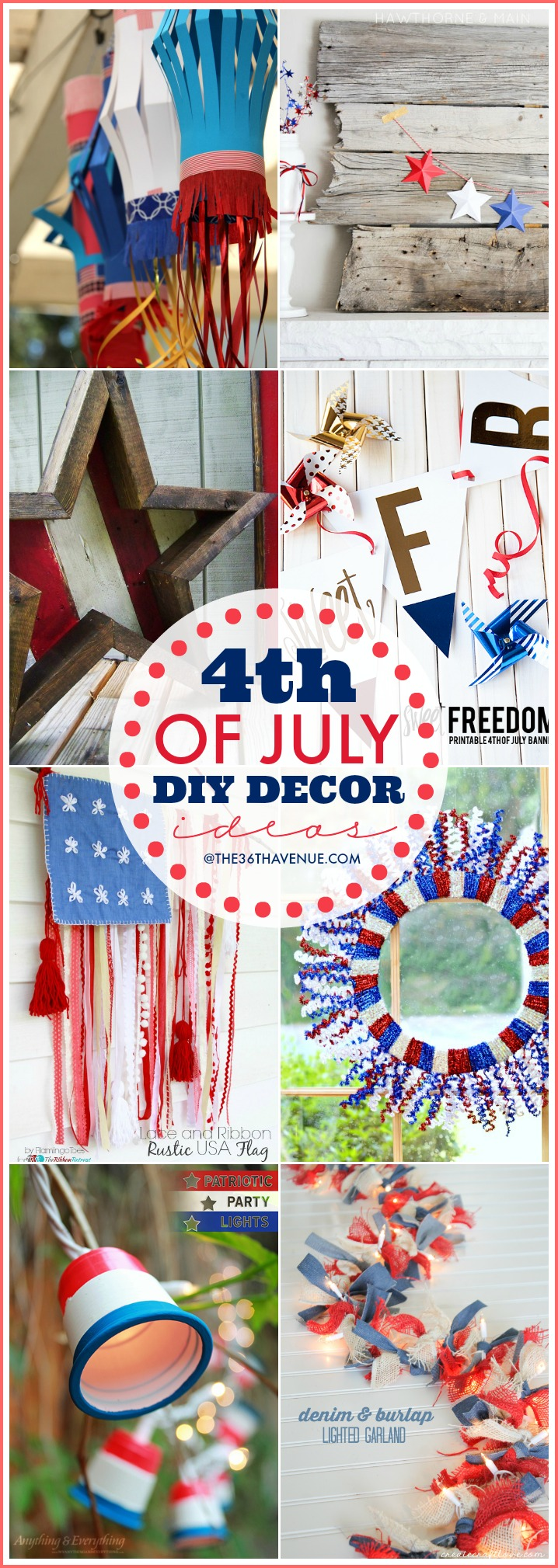 Fourth Of July Decor DIY Ideas at the36thavenue.com