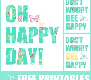 Free Printable – Be Happy