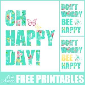 Free Printable – Be Happy