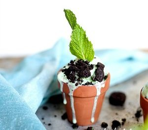 Dessert Recipes – Mint Ice Cream Planters