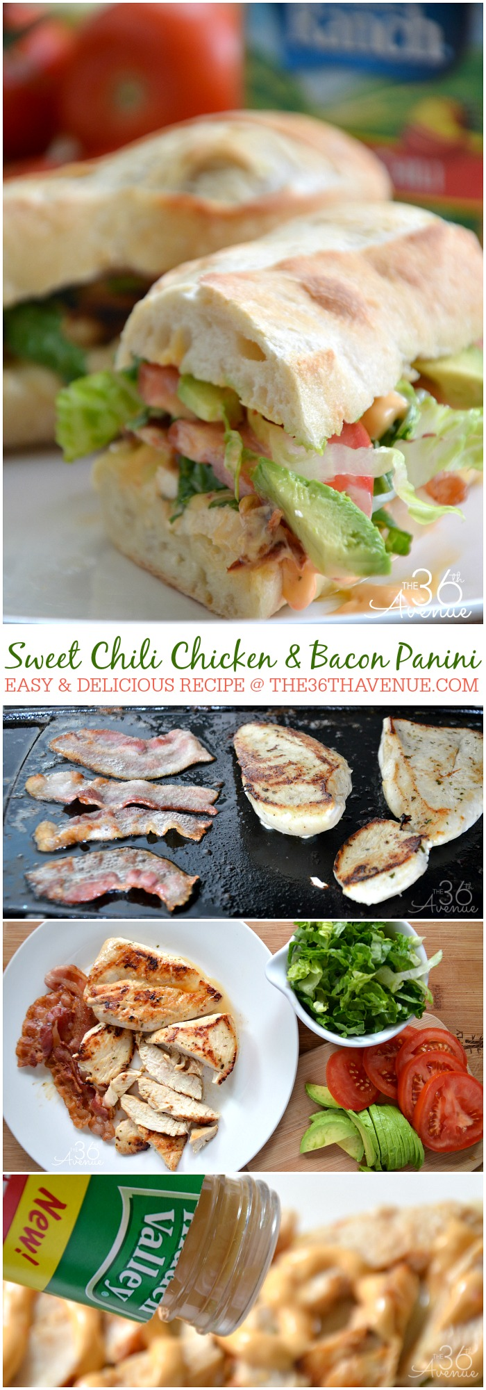 Recipes - Sweet Chili Chicken and Bacon Panini at the36thavenue.com ...Pin it now and make it later!