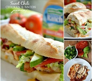 Easy Recipes – Sweet Chili Chicken Panini & Wrap