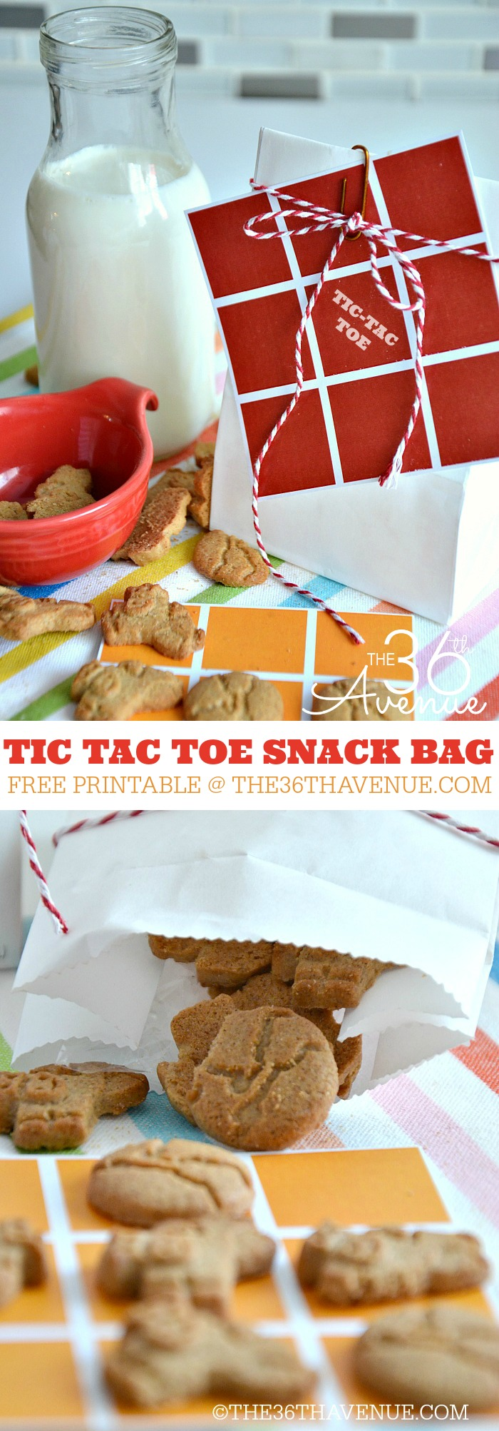 Easy Snack - Tic Tac Toe Bag Snacks at the36thavenue.com