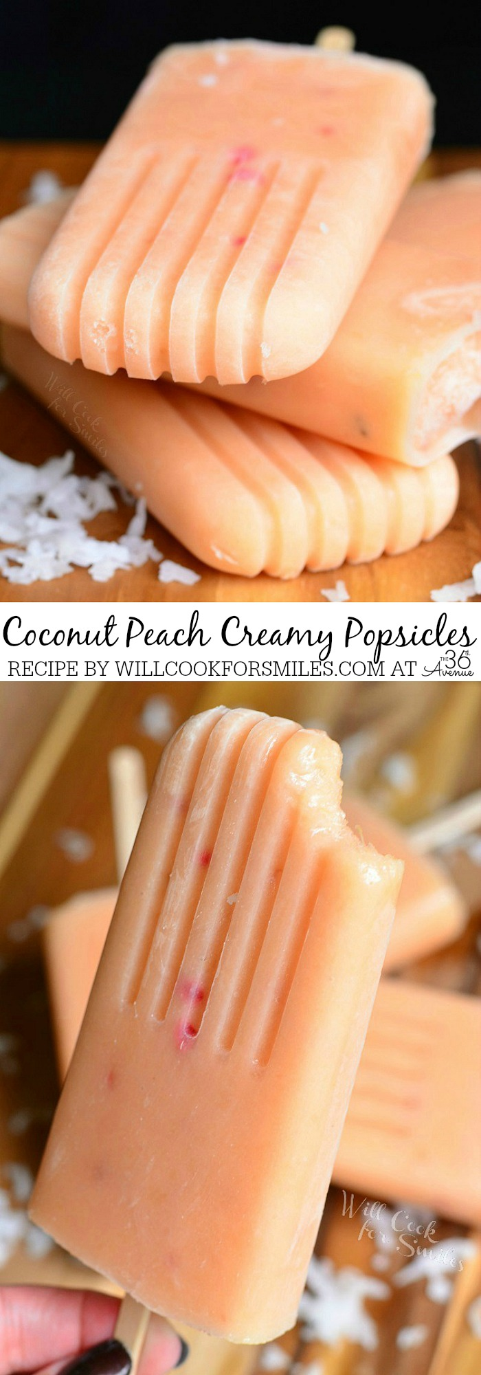 Recipes - Coconut and Peach Creamy Popsicles by willcookforsmiles.com