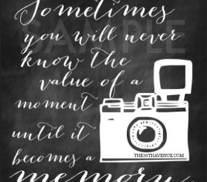 Free Printable – Memories