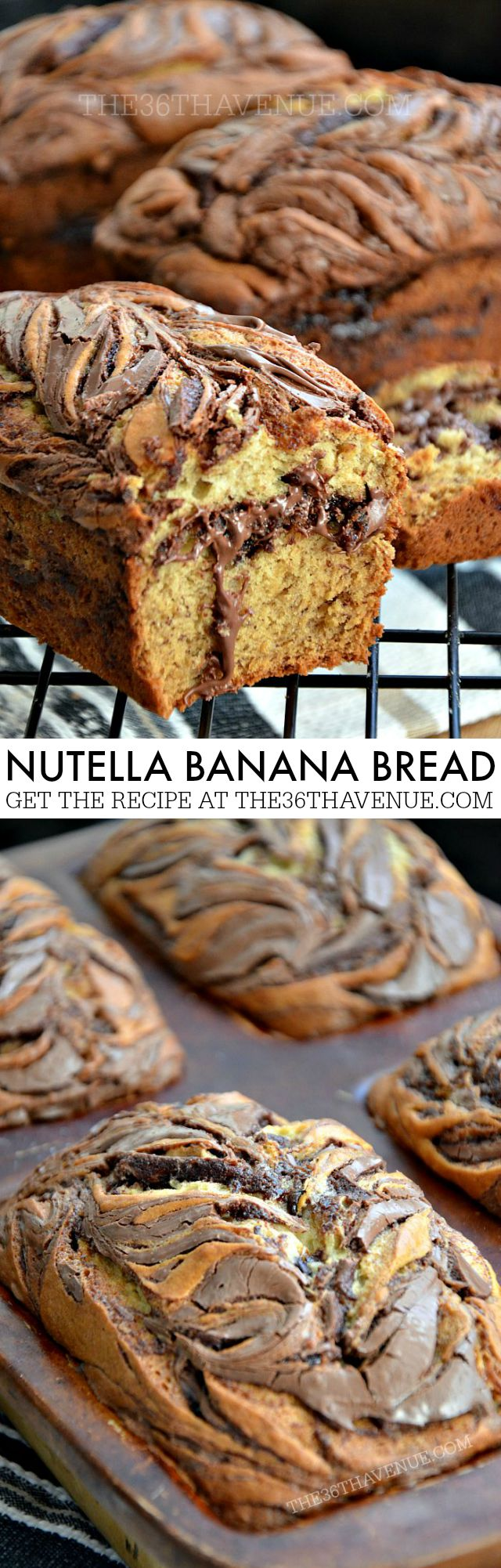 Nutella Banana Bread Recipe 800 by the36thavenue.com