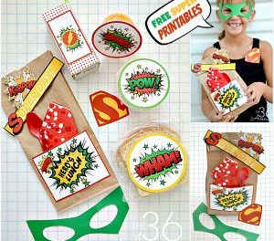 School Lunch Idea with Printables