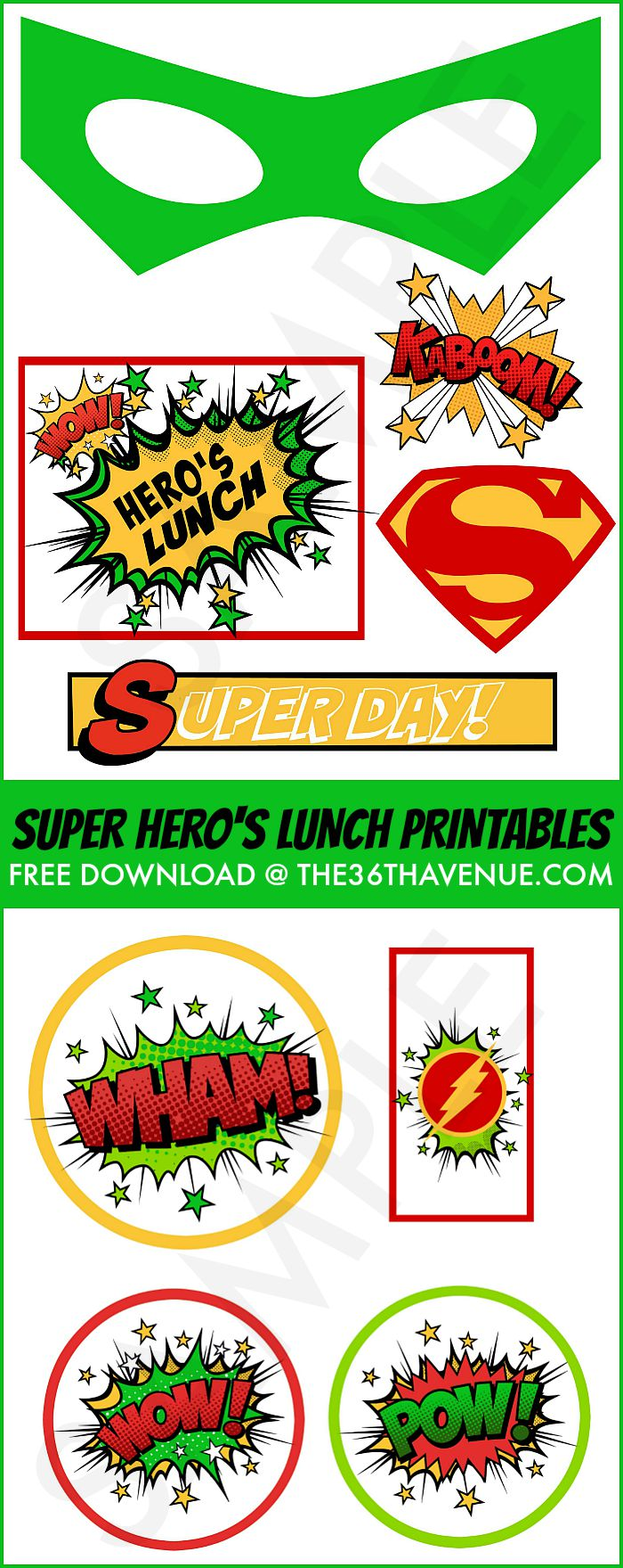 Back to School Lunch Idea and FREE PRINTABLES at the36thavenue.com Super cute for kids and teachers!