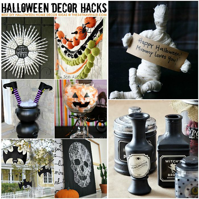 Halloween Decor Ideas and Hacks FB at the36thavenue.com