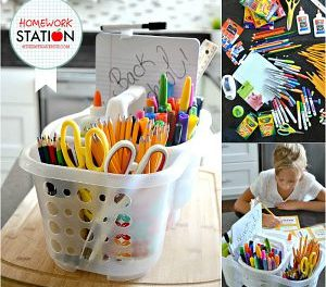 Back to School Homework Station