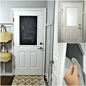 DIY No-Paint Chalkboard Door