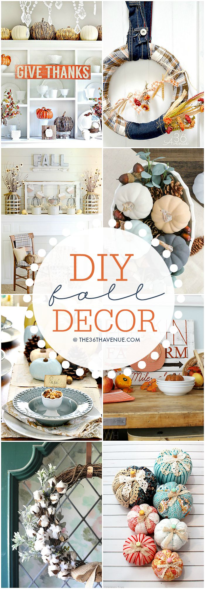 DIY Fall Decor Ideas at the36thavenue.com