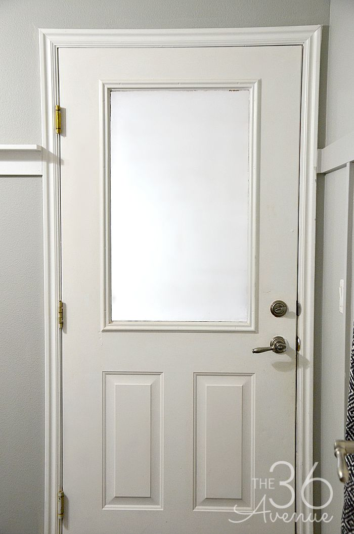 DIY No-Paint Chalkboard Door Tutorial at the36thavenue.com