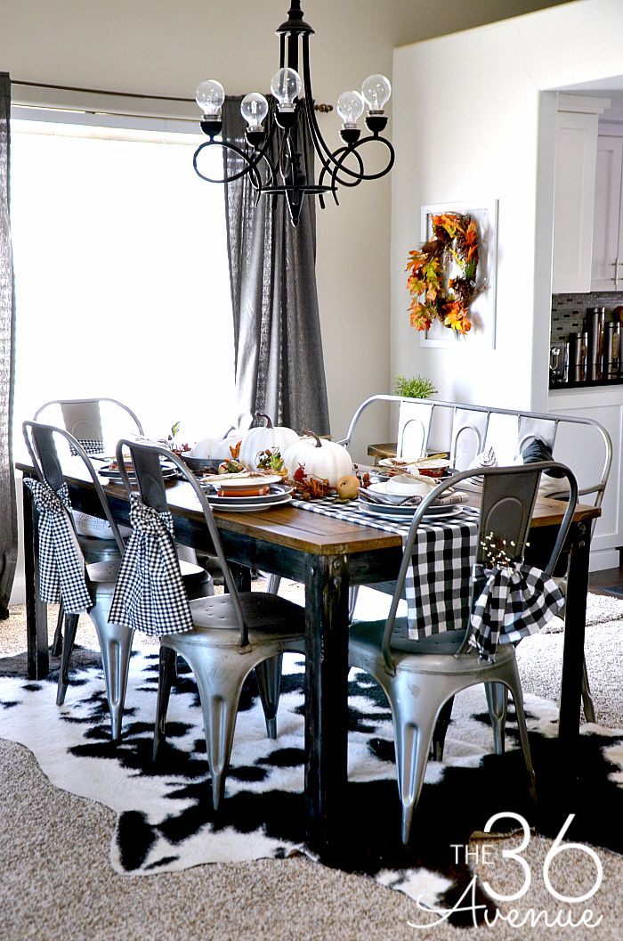 Home Decor - Fall Decor Ideas and Dining Room Reveal at the36thavenue.com