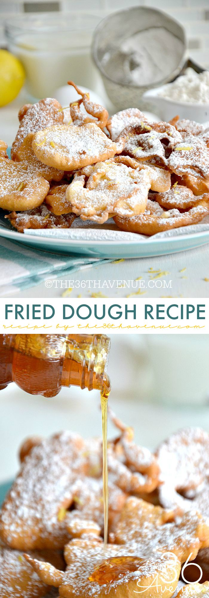 Recipe - Fried Dough Recipe... Such a yummy treat! Read more here https://www.the36thavenue.com/fried-dough-recipe/ ‎