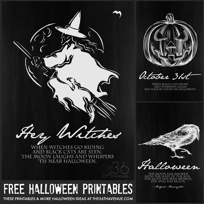 photo about Free Halloween Printable identify Halloween Printables - The 36th Street