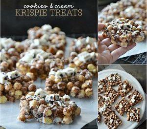 Cookies and Cream Krispies