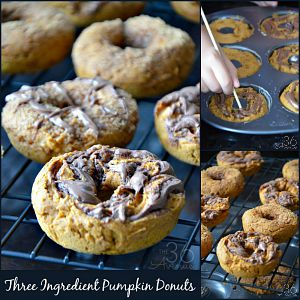 Pumpkin Donut Recipe – Three Ingredients