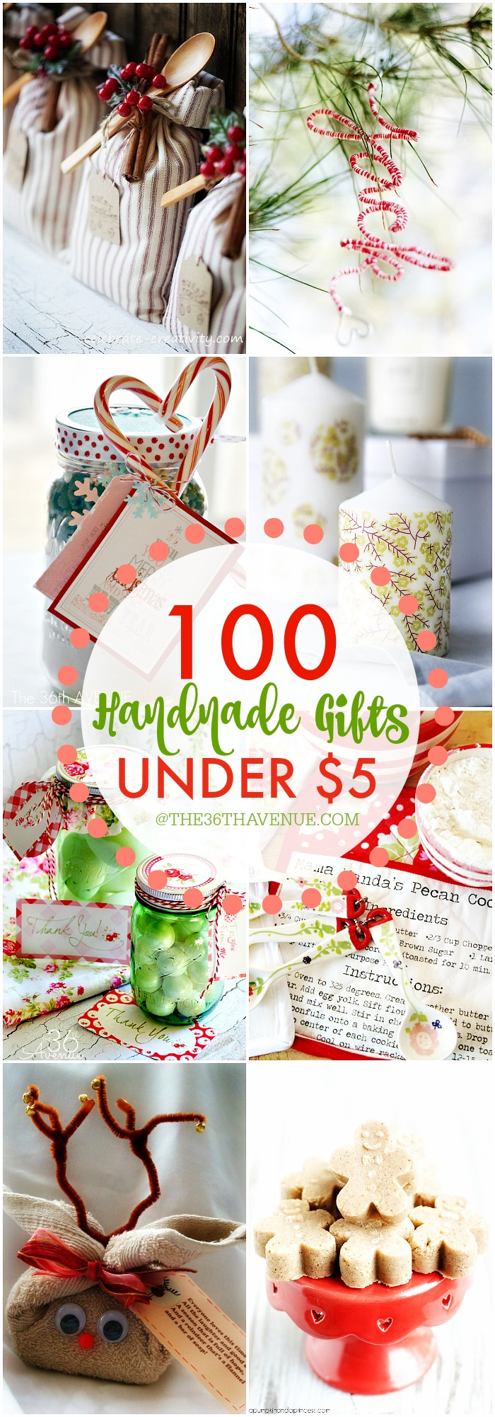 100 Handmade Gifts Under Five Dollars at the36thavenue.com