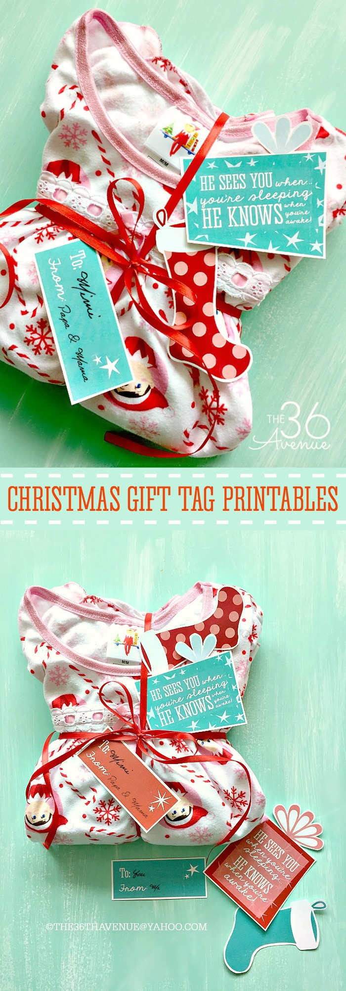 Christmas Gift Idea and Gift Tag Printable - Such an adorable way to start the Christmas Season!