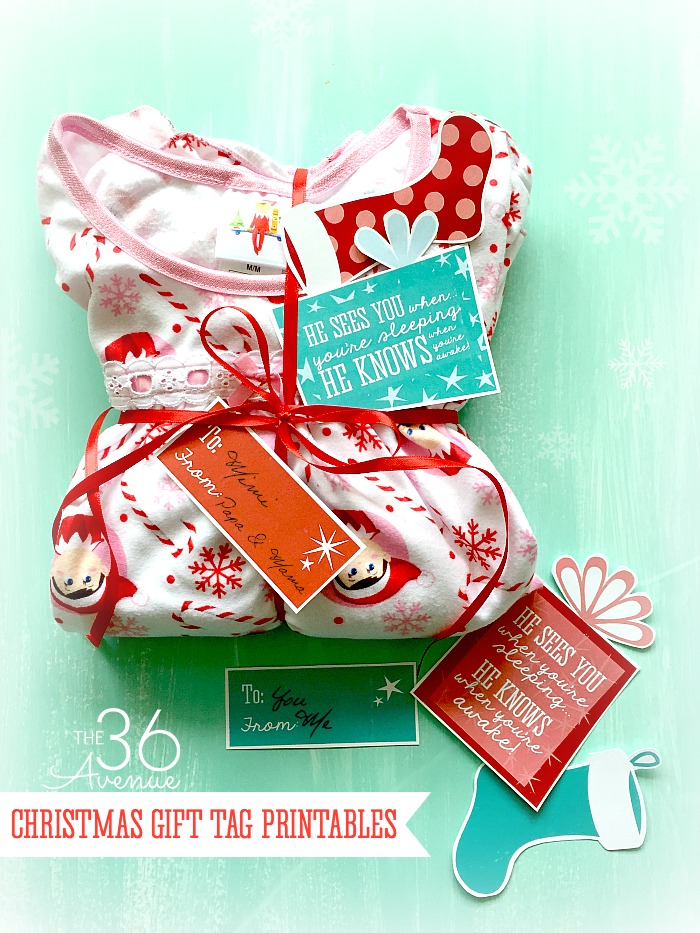 Christmas Gift Tag Printables at the 36thavenue.com