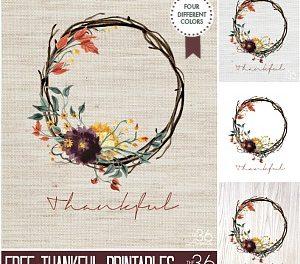 Fall Printable – Thankful