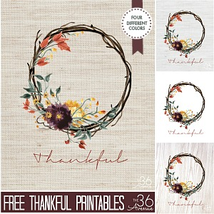 Fall Printable – Thankful