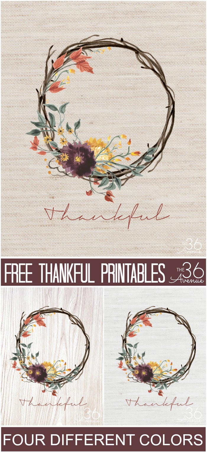 Free Printables - Thankful at the36thavenue.com